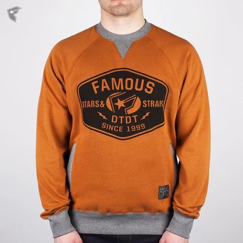 купить Толстовка FAMOUS The Yard Crewneck (Brown-Athletic-Htr-Black, S) по цене 1020 рублей