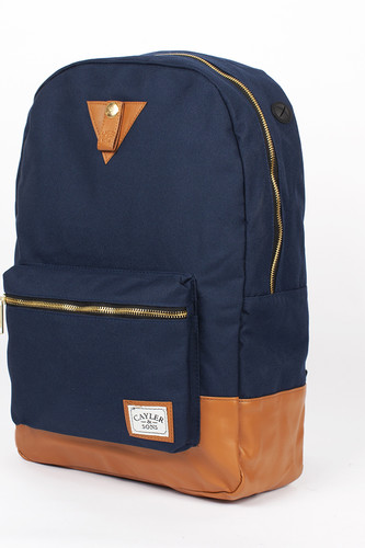 Рюкзак CAYLER & SONS Kush Uptown Backpack (Navy/Cognac/Green Leaves)