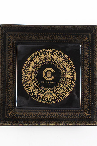 Пепельница CROOKS & CASTLES High Life Valet Dish (Black/Gold)