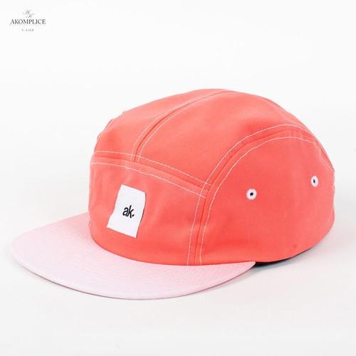 лучшая цена Бейсболка AKOMPLICE Get Faded Camper (Orange-Red, O/S)