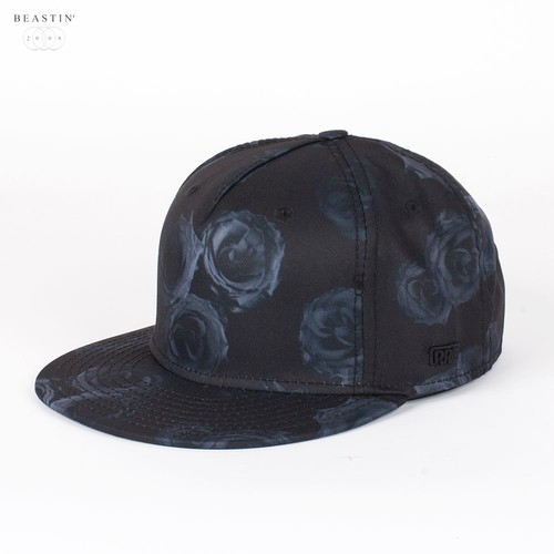 Бейсболка BEASTIN Black Roses Strapback Cap (Black-Grey, O/S) бейсболка beastin hunted white maroon o s