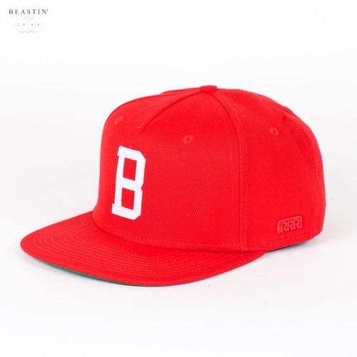 Бейсболка BEASTIN Heritage Snapback Cap (Red-White, O/S) цены