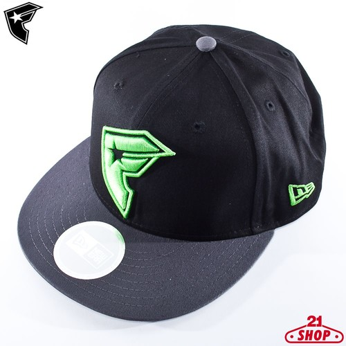 купить Бейсболка FAMOUS Og Boh (Black-Charcoal-Lime, O/S) по цене 730 рублей