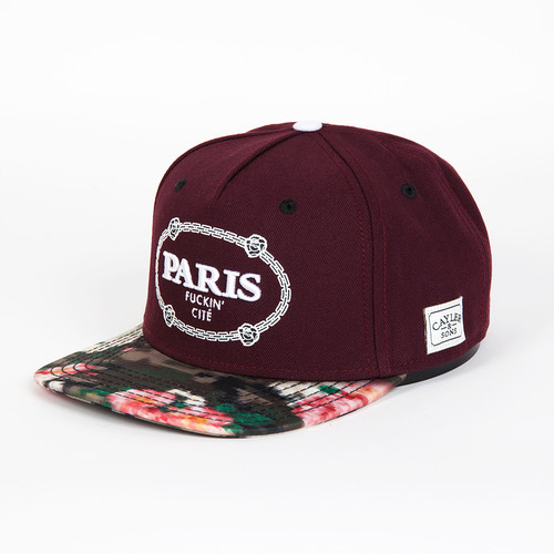 Бейсболка CAYLER & SONS Paris Cap (Maroon/Floral Digi Camo/White, O/S) майка cayler