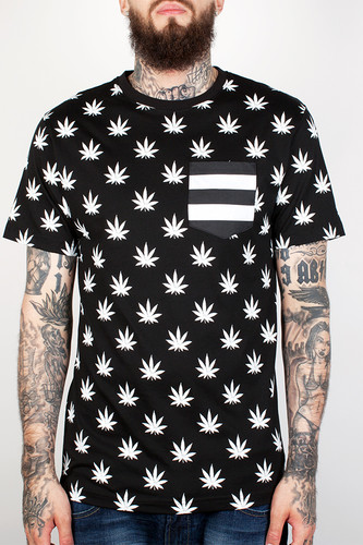 Футболка CAYLER & SONS Leaves 'n Stripes Pocket Tee (Black/White, 2XL) футболка cayler