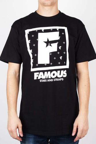 Футболка FAMOUS F Flat Squared (Black-White, XL)