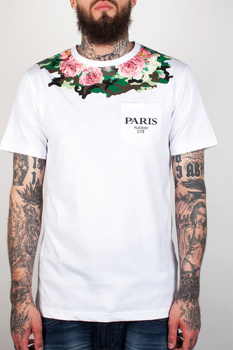 Футболка CAYLER & SONS Rosary Pocket Tee (White/Floral Camo, L)