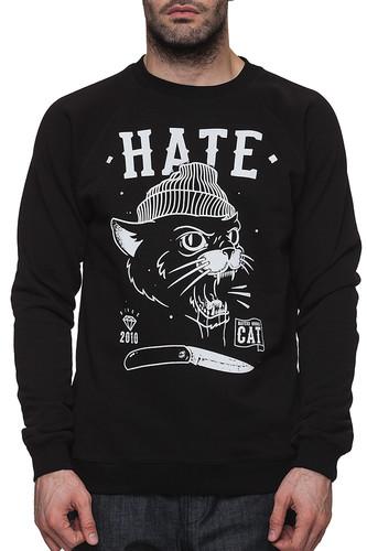 Фото - Толстовка HATE Hate cat (Черный, S) hate squad hate squad katharsis