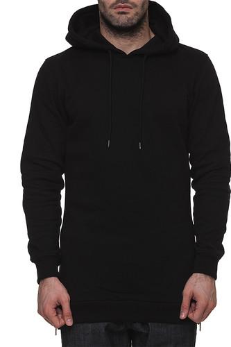Толстовка URBAN CLASSICS Long Side Zipped Hoody (Black, XL)