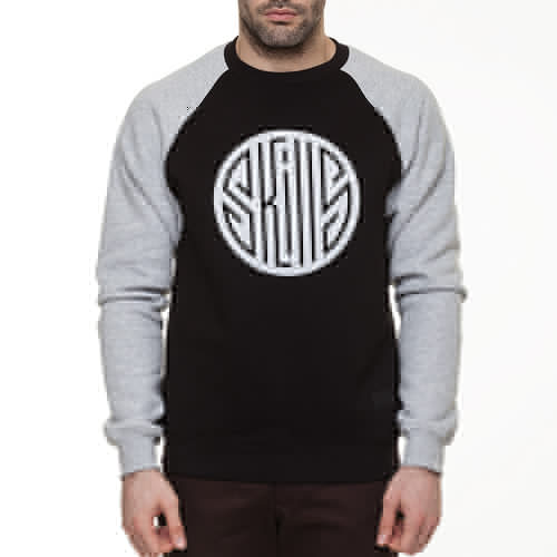 цена на Толстовка SKILLS Round Up Crewneck (Black/Grey Melange, L)