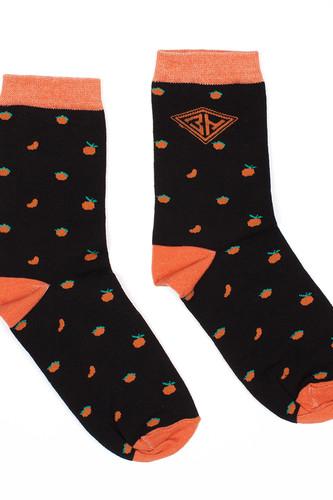 Фото - Носки ЗАПОРОЖЕЦ Апельсин Целый и Дольки женские (Черный, O/S) носки запорожец тайна третьей планеты скафандр 3 женские красный o s