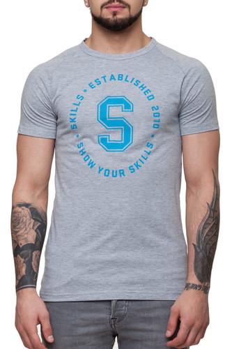Футболка SKILLS Just S raglan (Grey Melange, XS) футболка skills 3d raglan grey melange xs