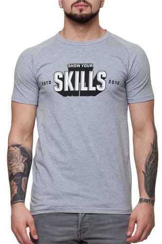 Футболка SKILLS 3D raglan (Grey Melange, XS) футболка skills 3d raglan grey melange xs