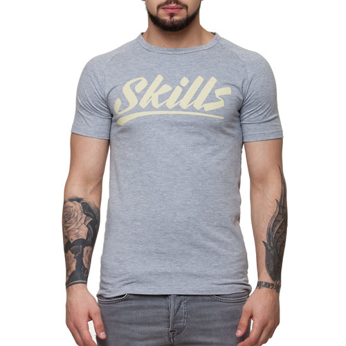 цена на Футболка SKILLS Script Logo 4 raglan (Grey Melange, L)