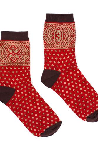 Носки ЗАПОРОЖЕЦ Крестики женские (Красный, O/S) цена