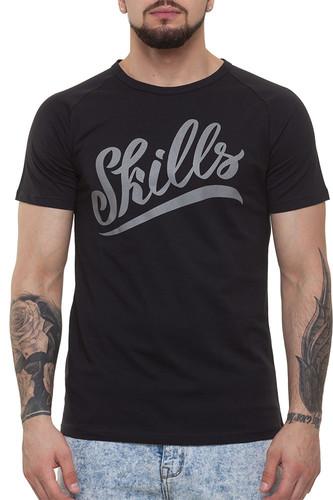 Футболка SKILLS Script Logo 3 raglan (Black, XL) футболка skills 3d raglan grey melange xs