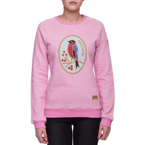 Толстовка ЗАПОРОЖЕЦ Снегирь женская (Розовый Меланж, L) толстовка запорожец лого 2v женская кремовый меланж нопэ l