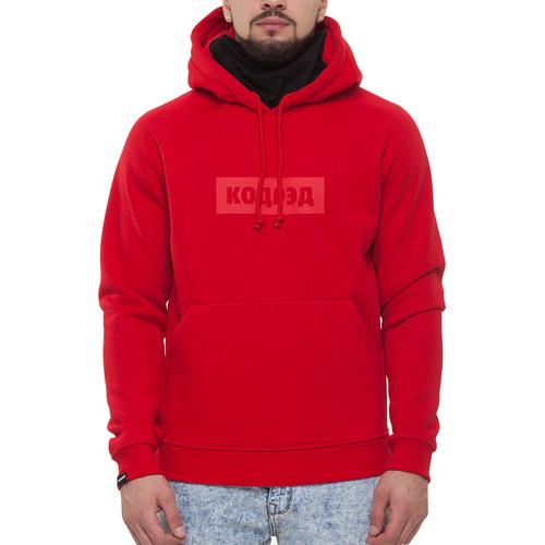 Толстовка CODERED Лого Hood (Красное Лого, M) толстовка codered hood up summer черный outline sport cyrillic m