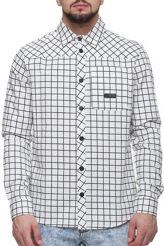 Рубашка CODERED Forest (Белый/Черный, M) рубашка codered harbor чернильный синий молочный красный xl