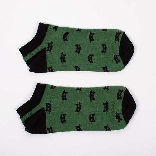 Носки ЗАПОРОЖЕЦ Котики короткие женские (Зеленый, O/S)
