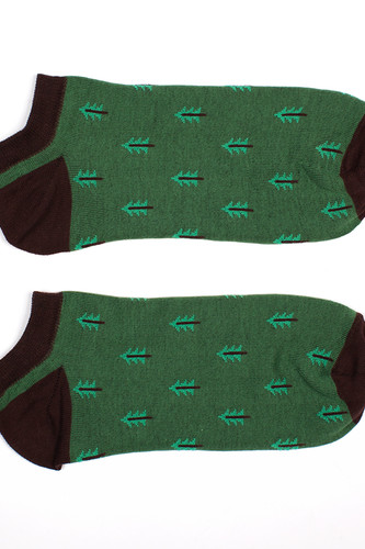 Носки ЗАПОРОЖЕЦ Ёлки короткие женские (Зеленый, O/S)