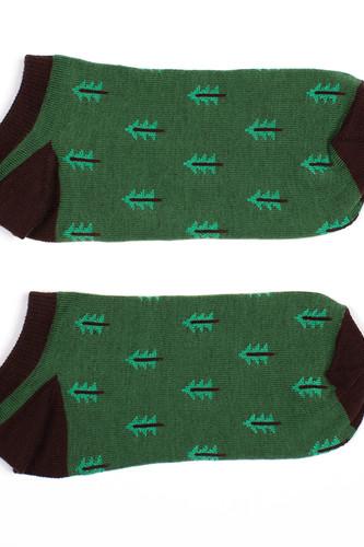 Носки ЗАПОРОЖЕЦ Ёлки короткие (Зеленый, O/S)