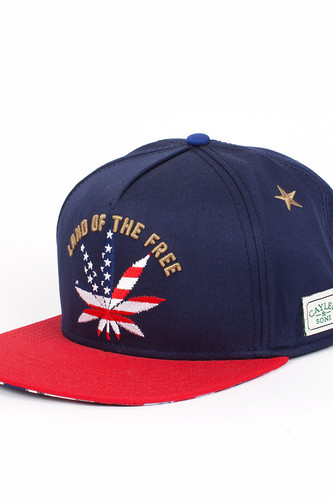 Бейсболка CAYLER & SONS Best Budz Cap 17 (Navy/Usa/Gold, O/S)