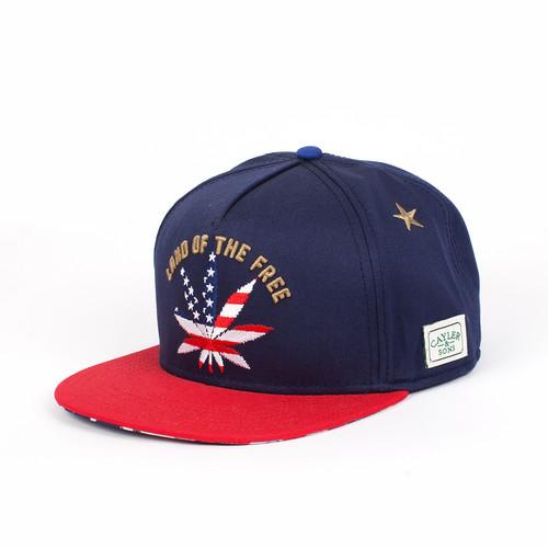Бейсболка CAYLER & SONS Best Budz Cap 17 (Navy/Usa/Gold, O/S)
