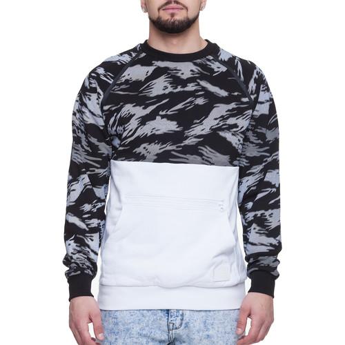 Толстовка CROOKS & CASTLES Cr-Nack Knit Sweatshirt (Black Multi/White, L) multi stripe knit pants