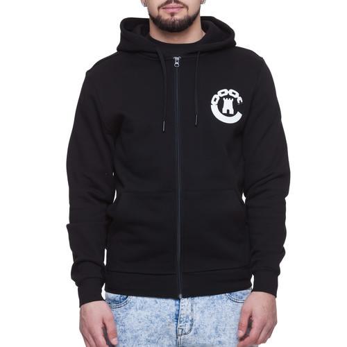 купить Толстовка CROOKS & CASTLES Legasy Knit Zip Hoody (Black, L) дешево