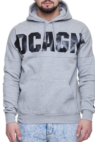 Толстовка CROOKS & CASTLES Coca Dolman Knit Hooded Pullover (Heather Grey, L)