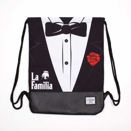 Сумка CAYLER & SONS Head Of The Family Reversible Gymbag (Black/White/Red)