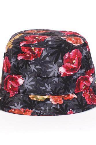 Панама CAYLER & SONS Tokyo Bucket Hat (Blossom Camo/Black/Gold, S/M)