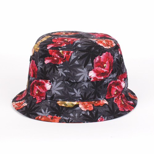 Панама CAYLER & SONS Tokyo Bucket Hat (Blossom Camo/Black/Gold, S/M)