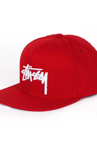 Бейсболка STUSSY Stock SP16 Cap (Red, O/S)