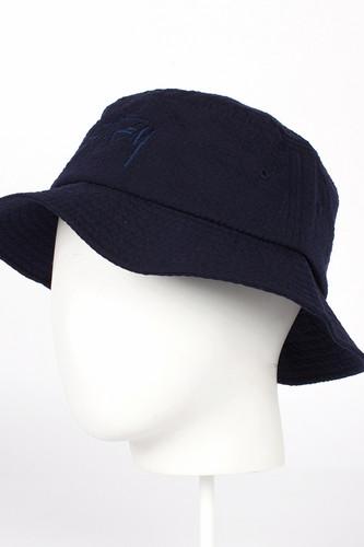 Панама STUSSY Stock Seersucker Bucket Hat (Navy, S/M)