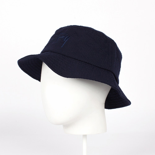 Панама STUSSY Stock Seersucker Bucket Hat (Navy, S/M) цены онлайн
