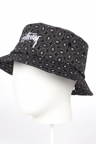 Панама STUSSY Circle Paisley Bucket Hat (Black, S/M)