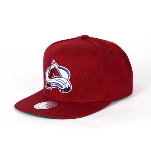 Бейсболка MITCHELL&NESS Colorado Avalanche Snapback (Burgundy, O/S)