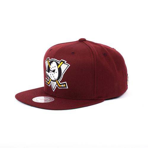 Бейсболка MITCHELL&NESS Mighty Ducks Snapback (Burgundy, O/S)