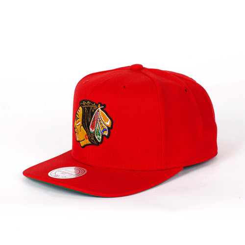 Бейсболка MITCHELL&NESS Wool Solid Chicago Blackhawks Snapback (Red, O/S)