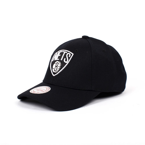 Бейсболка MITCHELL&NESS Brooklyn Nets Snapback (Black, O/S) стоимость