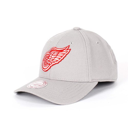 Бейсболка MITCHELL&NESS Detroit Red Wings Snapback (Grey, O/S)