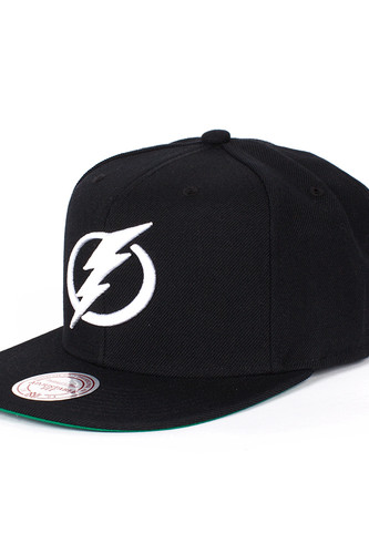купить Бейсболка MITCHELL&NESS Tampa Bay Lightning Snapback (Black, O/S) дешево