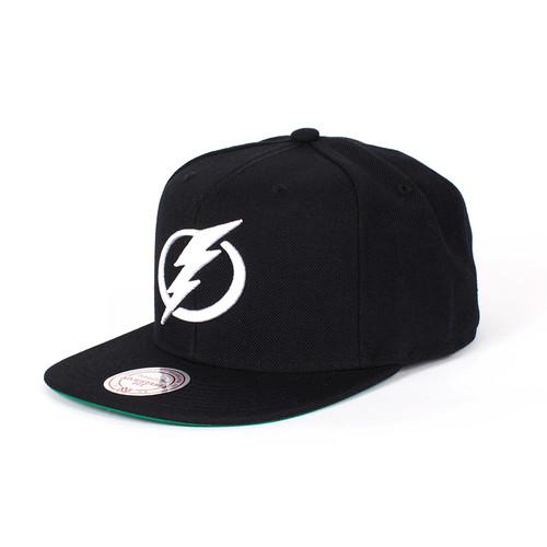 Бейсболка MITCHELL&NESS Tampa Bay Lightning Snapback (Black, O/S)