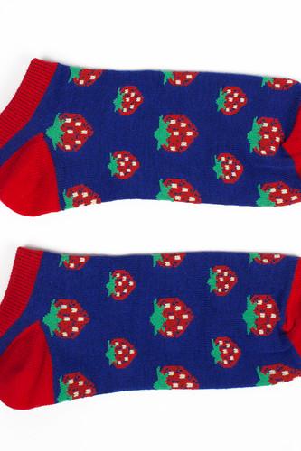 Носки ЗАПОРОЖЕЦ Клубника короткие женские (Синий/Красный, O/S)