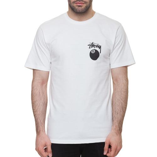 Футболка STUSSY 8 Ball Tee (White, L) цены онлайн