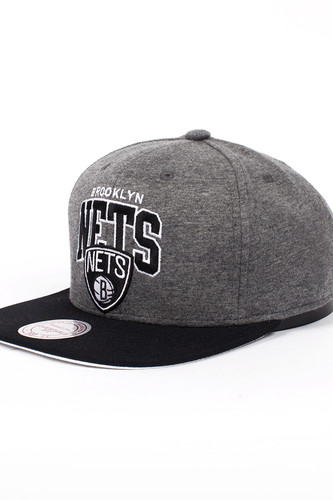 Бейсболка MITCHELL&NESS Brooklyn Nets EU119 (Grey, O/S)