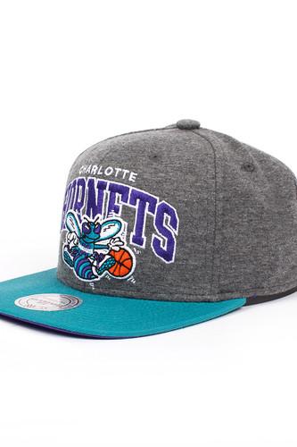 Бейсболка MITCHELL&NESS Charlotte Hornets EU119 (Grey, O/S)