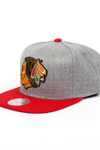 Бейсболка MITCHELL&NESS Chicago Blackhawks EU043 (Red, O/S) бейсболка mitchell